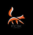abstract fox logo vector image vector image