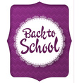 back to school greeting card with handwritten vector image