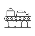 baggage carousel linear icon vector image