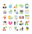banking and finance colored icons 6 vector image vector image