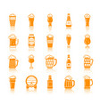 beer mug color silhouette icons set vector image vector image