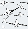 black and white airplanes seamless background air vector image vector image