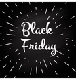 Black Friday -typographic design vector image vector image