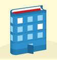 book building concept literature or reading vector image