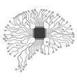 brain concept circuit board printed vector image