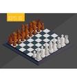 chessboard isometric vector image vector image