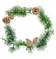 Christmas wreath banner design vector image vector image