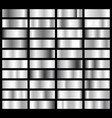 collection of silver chrome metallic gradient vector image vector image