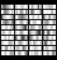 collection silver chrome metallic gradient vector image