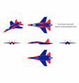 combat aircraft colored vector image vector image