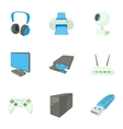 Computer repair icons set cartoon style vector image vector image
