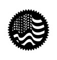contour emblem with flag of usa inside vector image vector image