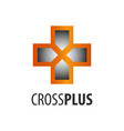 cross plus logo concept design symbol graphic vector image vector image