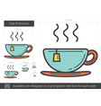 cup of tea line icon vector image