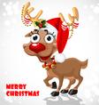 Cute Santa Reindeer vector image