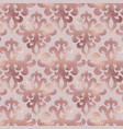 damask pattern rose gold background with ornament vector image vector image