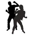 dancing men and women vector image