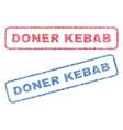 doner kebab textile stamps vector image vector image