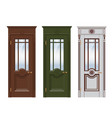 doors set isolated on white vector image