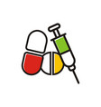 drug medicine logo vector image