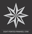 eight pointed pinwheel star icon vector image vector image