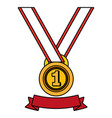 first place medal award vector image vector image