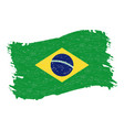 flag of brazil grunge abstract brush stroke vector image