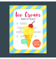 flat style poster with ice cream vector image vector image