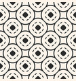 geometric seamless pattern with circular mesh vector image vector image