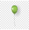 green balloon 3d thread isolated white