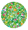 Green spring summer pattern vector image