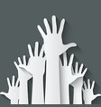 hands up symbol vector image vector image