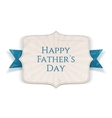 Happy Fathers Day greeting Banner vector image vector image