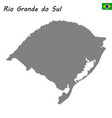 high quality map of state brazil vector image vector image