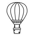 hot air balloon cartoon vector image