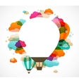 Hot air balloon colorful abstract background