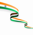 indian flag wavy abstract background vector image