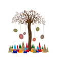 Isolated art tree concept vector image vector image