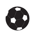 isolated soccer ball silhouette vector image vector image