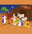 jesus birth banner background vector image