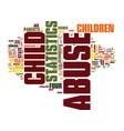 latest child abuse statistics text background