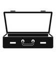 leather suitcase icon simple style vector image