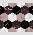marble luxury striped from hexagons seamless vector image vector image