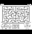 maze or labyrinth game coloring page vector image vector image
