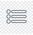menu bars concept linear icon isolated on vector image vector image