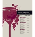 menu for wine tasting vector image vector image