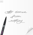 Motivation hand written quote All comes from vector image vector image