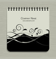 notebook design abstract floral design vector image vector image