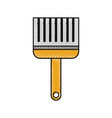 paint brush color repair instrument icon vector image vector image