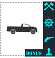pickup truck icon flat vector image vector image